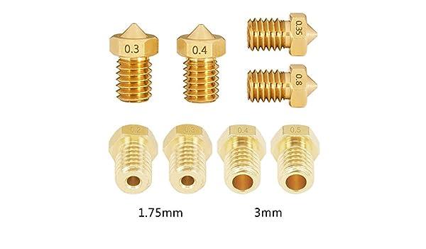 Boquilla de latón para impresora 3D, 0,2, 0,25, 0,3, 0,35, 0,4, 0 ...