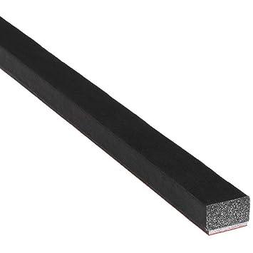 Burlete para puerta en forma de D 1,27 cm de altura x 1,27 cm de ancho color negro hueco