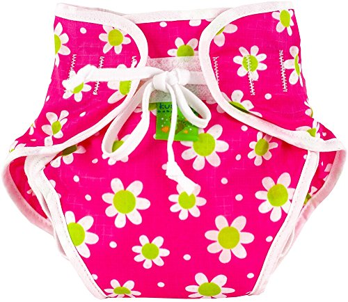Kushies Swim Diaper, Fuchsia Daisy Print, Medium (Wallpaper Pals)