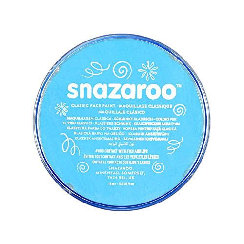 Snazaroo Classic Face Paint, 18ml, Turquoise -