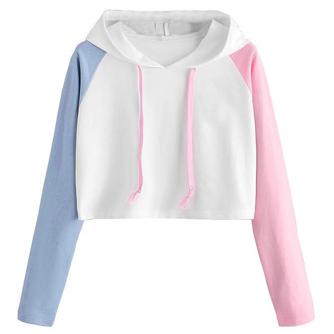 ASHOP Ropa Mujer, Casual Sport Coat Sudadera con Capucha Blusas Elegantes Tops Deporte estamoado (