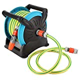 KEYREN Hose Trolley Reel Rack Holder Storage Portable Garden with 32.8ft