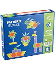 Pattern Building Blocks for Kids - 130 Pieces