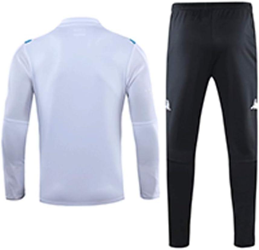 Jinjuntech Fans Trikots Exklusiv! Herren-Rundhalsausschnitt Sport Fr/ühling Und Sommer-Langarm-Breathable Sport-Shirt Wei/ß Outdoor Leisure Fu/ßball-Trainingsanzug WEO020