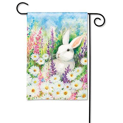 Magnet Works MAIL31099 White Bunny Garden Flag