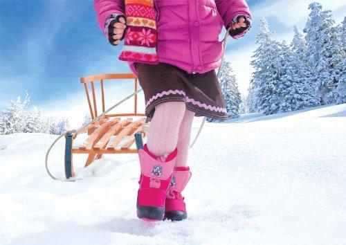 DEMAR Kinder Winterstiefel mit WOLLE gefüttert DOGGY Pink