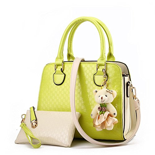 Ryse Womens Fashionable Exquisite Bear Ornaments Mixed Color Handbag Shoulder - Sale Marcjacobs