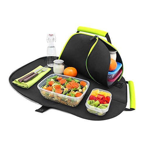 NEW- Roll'eat Eat'n'Out verde- 2 in 1 Lunch bag + tovaglietta - Borsa porta alimenti - Lunchbag - Lunch box - Porta alimenti