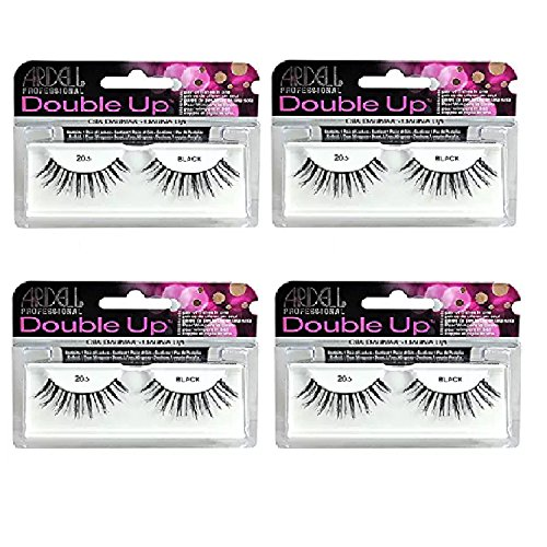 Ardell - False Eyelashes, Double Up #206, Reusable, Black (4-Pack) (Best False Lashes For Prom)