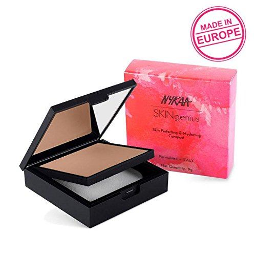 Skin Polish Perfecting - Nykaa SKINgenius Skin Perfecting & Hydrating Compact - Cosy Chestnut 04