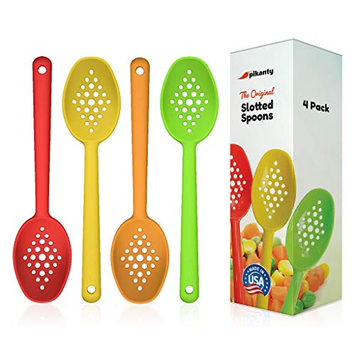 Small Slotted Spoons Set by Pikanty | Made in USA ()