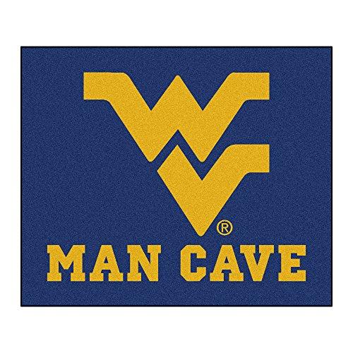 West Virginia Mountaineers Tailgater Mat - NCAA West Virginia University Mountaineers Man Cave Tailgater Rectangular Mat Area Rug