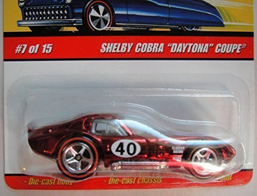 HOT WHEELS CLASSICS SERIES 4 REDLINE RED SHELBY COBRA DAYTONA COUPE 7 OF 15 5 SPOKE (Redline Shelby)