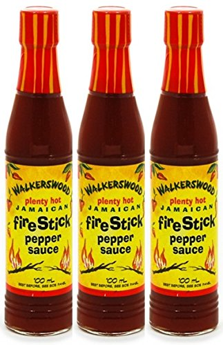 Price comparison product image WALKERSWOOD PLENTY HOT JAMAICAN FIRESTICK PEPPER SAUCE 3OZ 3PK