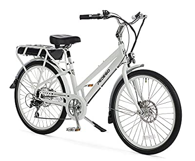 "Pedego City Commuter 28"" Step Thru White with Black Balloon Package 48V 15Ah"
