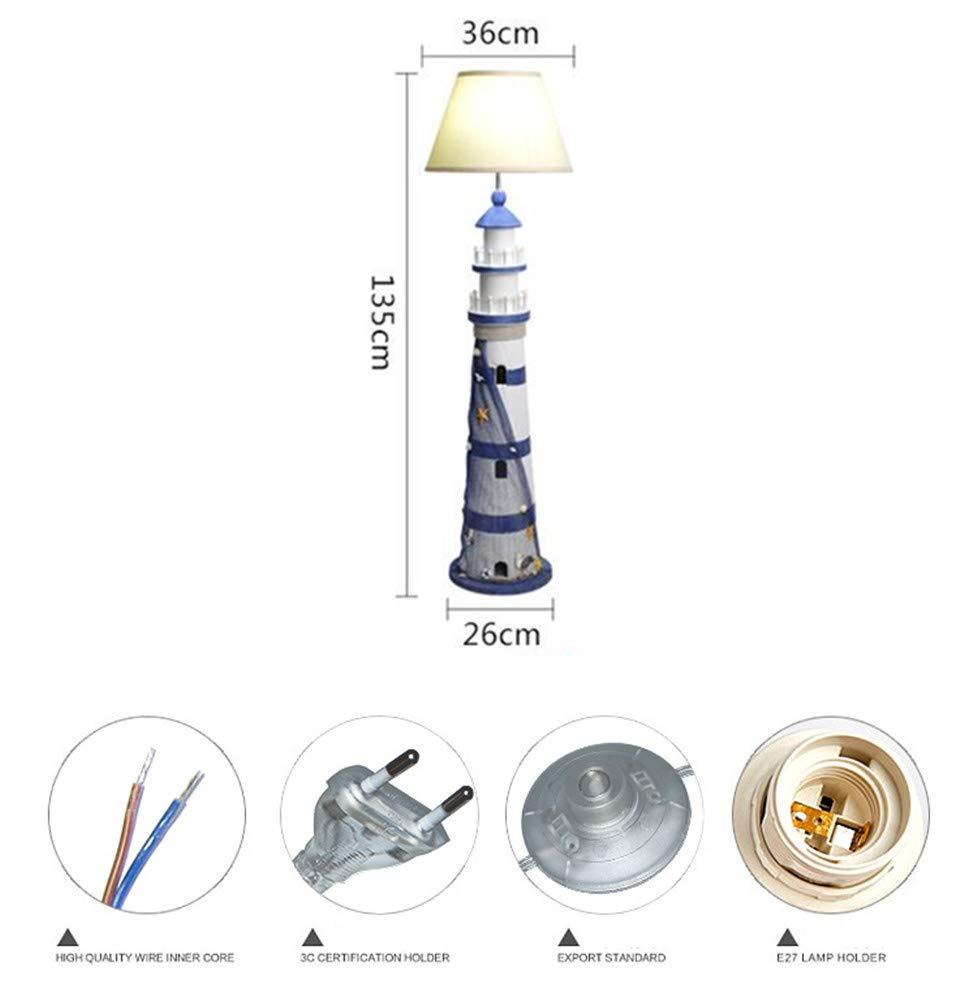 Amazon.com: Lámparas de suelo mediterráneas simples y ...