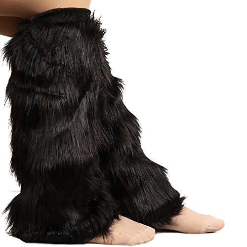 Posher TM FL6 Womens Leg Warmer Faux Fur Boot Cuff Cover from Posher