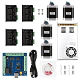 SainSmart CNC 4-Axis Kit with ST-4045 Motor Driver, USB Controller Card, Nema23 Stepper Motor and 24V Power Supply (CNC Kit 6)