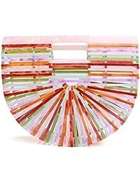 945b9c25b5e1 Womens Acrylic Clutch Handbag Large Tote Bag Beach Bag