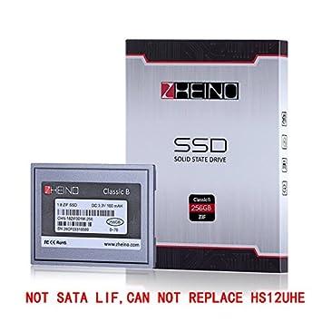 Zheino 1,8 Zoll ZIF SSD 256GB 1.8 Pata IDE 40Pin ZIF 40 Patas ...