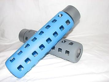 Voss Glass Water Bottle Case (800mL) (Blue), Sports Water