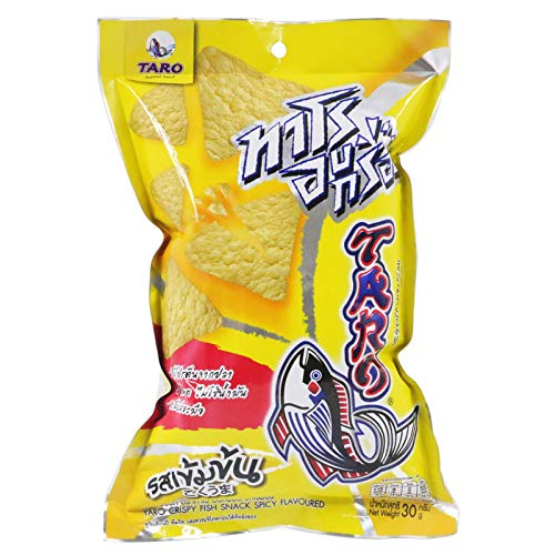TARO Crispy Fish Snack, Seafood Snack, Spicy Flavoured 30g X 3 Packs by Taro