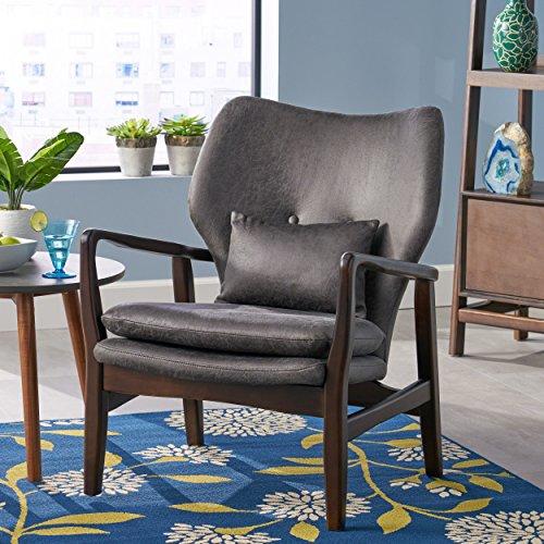 - Ventura Mid Century Modern Microfiber Club Chair, Slate