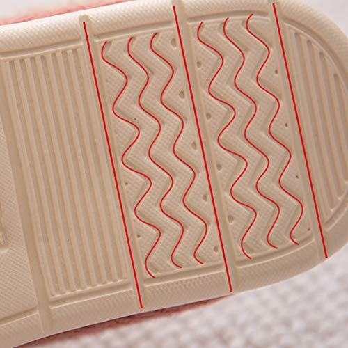 Hommes en en 39 à Hiver Pantoufles 40 Japonais Taille Chaud au de et Courte Peluche Style et l'intérieur Coton Femmes Gardez Purple Automne Couleur TD 5zxTx