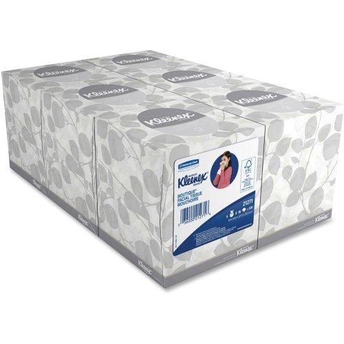 2 Ply Natural (Kleenex Naturals Facial Tissue - 2 Ply - 95 Sheets Per Box - 6 / Pack - White - Fiber)