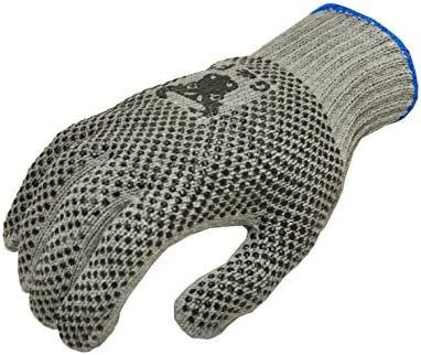 G /& F 14431L-DZ Natural Cotton Work Gloves with double-side PVC Dots 12 Large