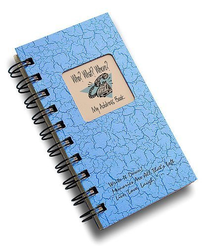 (Who? What? Where? - My Address Book - MINI Lt Blue Hard Cover (prompts on every page, recycled paper, read more...))