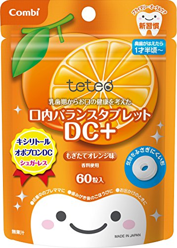 Mouth balance tablet DC + freshly picked orange flavored 60 grain input which considered health of your mouth from Combi Teteo deciduous period