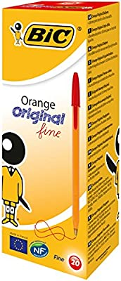 BIC Orange Original Fine bolígrafos punta fina (0,8 mm) - Rojo ...