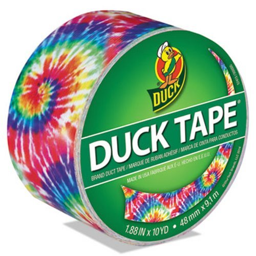 Colored Duct Tape, 1.88'''' x 10 yds, 3'''' Core, Love Tie Dye, Sold as 1 Roll