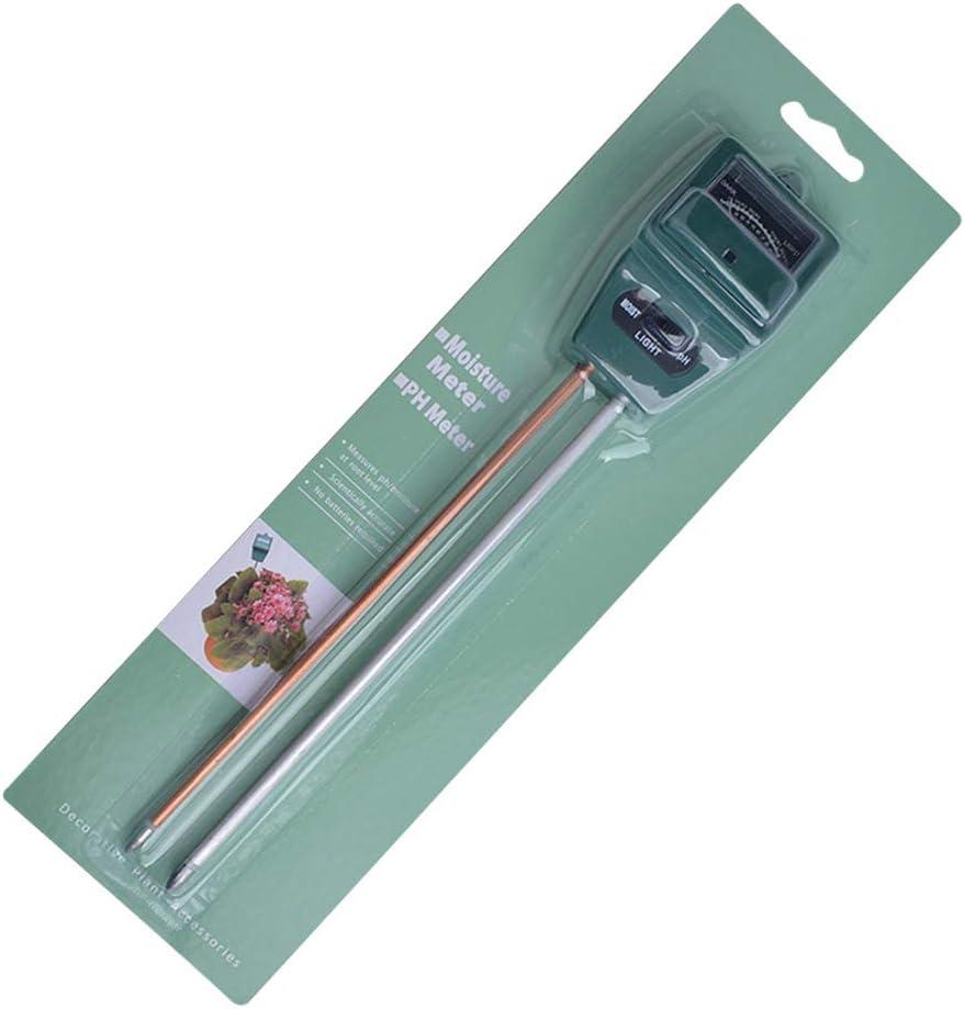 DragonPad Soil Tester Kit danalyseur de pH de Basicit/é de lacidit/é du Sol avec Trou de Suspension 3 en 1 testeur de Sol M/ètre dhumidit/é