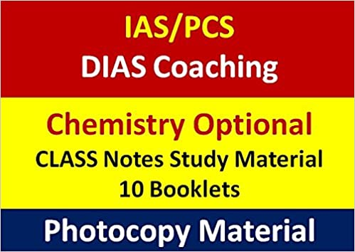 Buy DIAS Coaching IAS Chemistry Optional-Class Notes (Photocopy only
