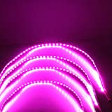 Grandview 17.7'' 4PCS DC12V 1210 45SMD Super Bright Pink Flexible LED Strip Light Waterproof For Car Decoration Strip Light Interior Atmosphere Lamp Vehicle DRL Day Running - Party/Festival Light
