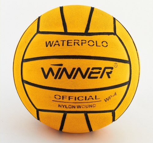 Ganador del balón de waterpolo. Diseño amarillo. Tamaño 4: Amazon ...
