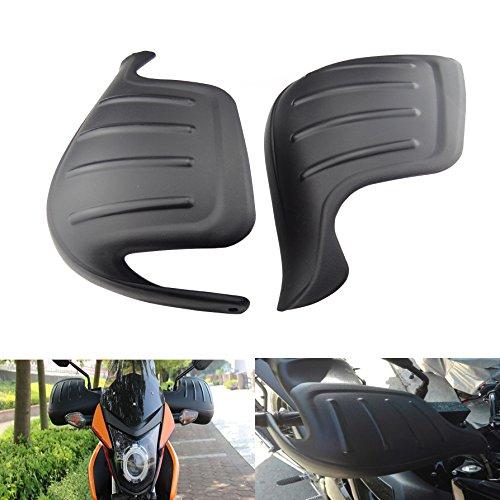 Hanperal 1 Pair Motorcycle Wind Deflector Handguard Handlebar Hand Guard Protector Shield(Black)