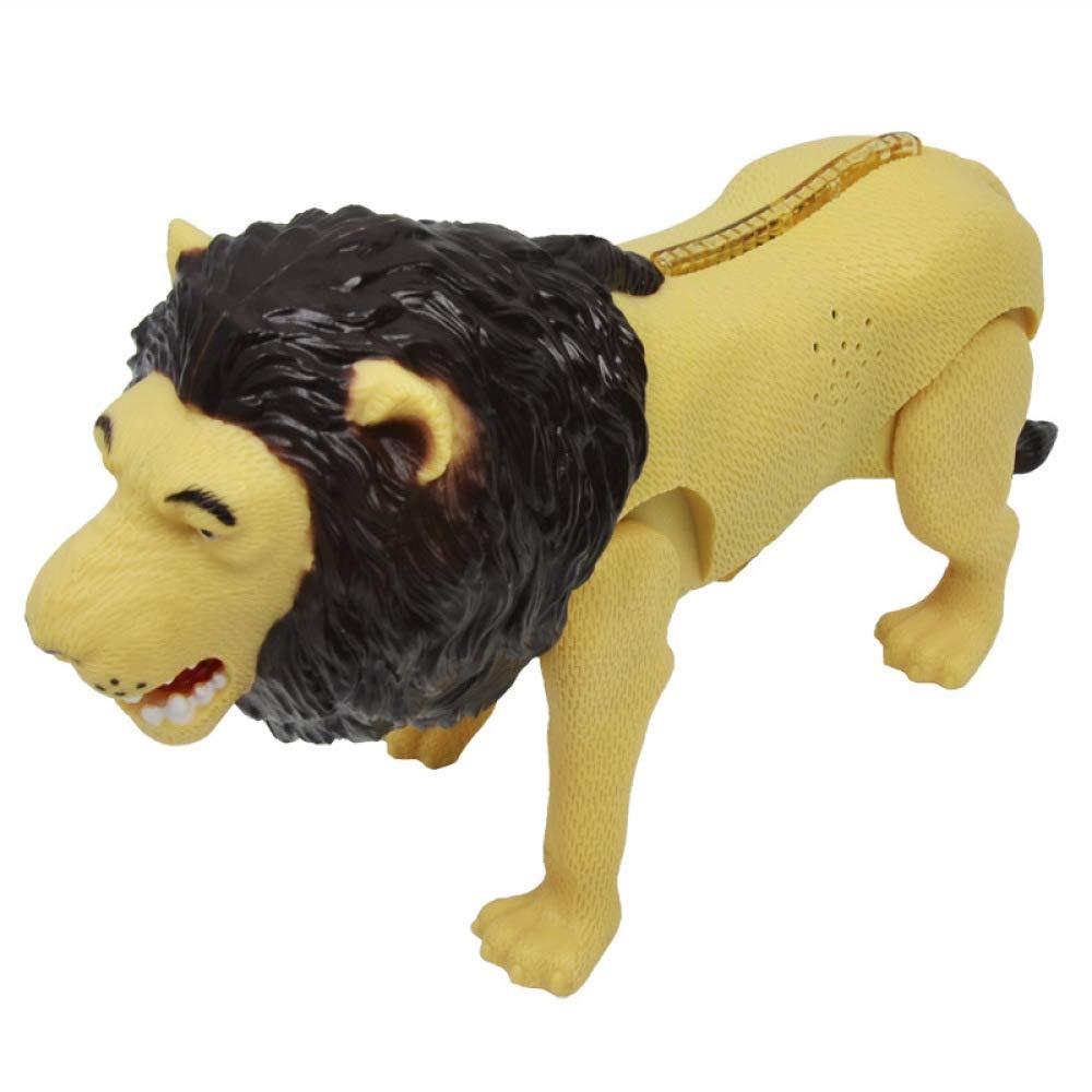 Kinder-Elektro-Löwenspielzeug, Die 4 Gliedmaßen Können Laufen, Bunte Lichter, Roar Stimme