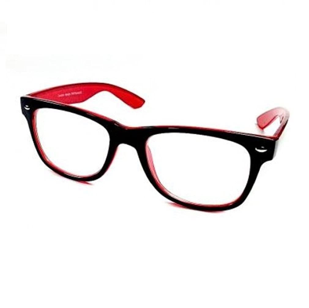 4sold/® Red Black Geek Style Retro 1980s Fashion Sunglasses