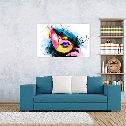 Woman Face Living Room Paintings Home Bedroom Porch