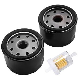 49065-7007 Oil Filter for Kawasaki FR691V FR651V FX600V FR730V FR541V FR600V FX600V FS730 FX600v FS451V FS481V FS691V FS651V 4 Cycle Engine FB460V FC420V FC540V FD501D FD590V with Fuel Filter