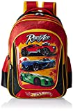Hot Wheels Polyester 18 Inch Black and Red Children's Backpack (Age group :8-12 yrs)