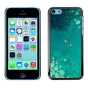 Shell-Star Arte & diseño plástico duro Fundas Cover Cubre Hard Case Cover para Apple iPhone 5C ( Tropical Art Nature Blue River Summer )