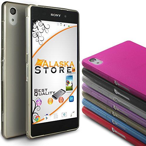 Alaskaprint Premium Transparent Schutzhülle / Case / Cover / Backcover / Schale / Handyschale / Tasche für Sony Xperia Z2 G1- Grau