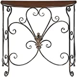 Convenience Concepts Wyoming Entryway Table, Black Antiqued Finish