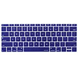 macbook keyboard cover blue - Mosiso Keyboard Cover for MacBook Pro 13 Inch 2017 & 2016 Release A1708 No Touch Bar & New MacBook 12 Inch A1534 Protective Skin, Navy Blue
