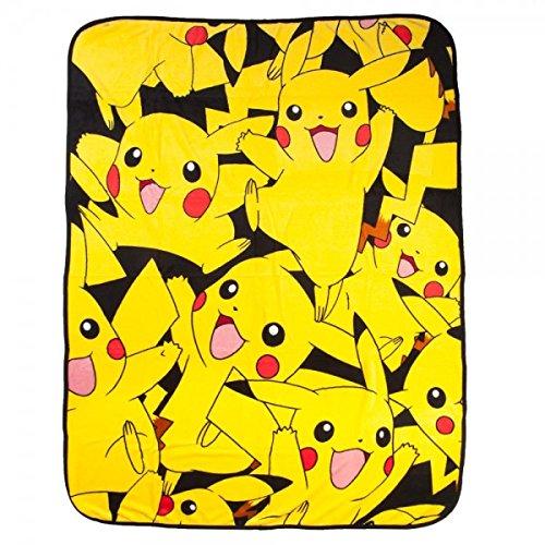 bioWorld Pokémon Pikachu All Over Print Fleece Throw Blanket, 48
