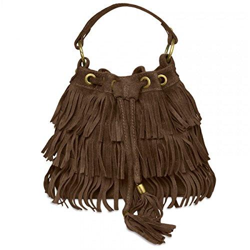CASPAR Fashion - Bolso de asas para mujer Marrón - marrón oscuro